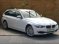BMW 3 Series 320d Luxury 5dr FULL BMW SERVICE HISTORY (alpine white) 2012