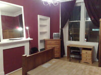 Furnished Huge Double Room with Ensuite in shared Main Door Flat, Rent includes ALL bills, WiFi,etc