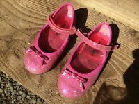 GIRLS PINK PARTY SHOES SIZE 8 infant