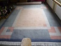 100% Wool Rug-IMMACULATE-10 ft x 8 ft-very thick pile- CAN DELIVER