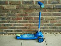 Kids blue scooter - Monsters Inc brand