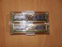 2x 2GB Ram 1333Mhz PC310666 Computer Memory