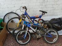 Three bikes for refurbishment
