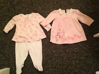 Baby girls outfit and dress 0-3 monthd