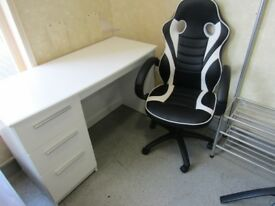 designer chair and office desk