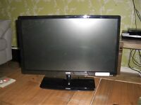"""22"""" flat screen TV. with built in dvd. very little use. been used as a spare"""
