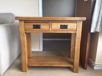 Original Rustic Solid Oak Console Table