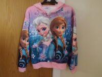 Girls Frozen Hoody Age 8