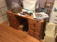 Solid pine desk and chair