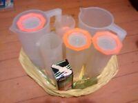 Set of Darkroom measuring jugs – various sizes