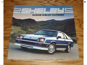 Dodge charger shelby 1983-1987