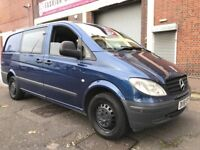 Mercedes-Benz Vito 2009 2.1 111CDI Long Panel Van 5 door 2 OWNERS, 6 SEATER, NO VAT, BARGAIN