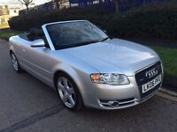 AUDI A4 3.0 QUATTRO DIESEL 2006 CONVERTIBLE AUTOMATIC SATNAV HEATED LEATHERS FULL SERVICE HISTORY