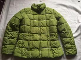 Ladies George Puffy Green Jacket Size 14 used few times £7