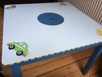 Beautiful toddler table and chairs set with transportation theme