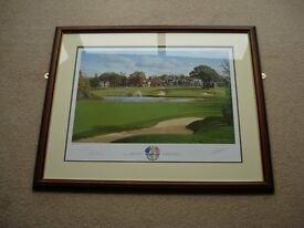 Graeme W Baxter 2001 Official Ryder Cup Print The Belfry, signed by Sam Torrance.