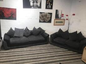 Stunning grey fabric sofa set