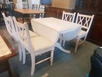 Ducali dropleaf table and 4 chairs