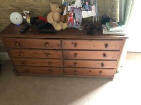 Wooden draw unit to clear