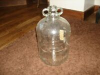 6 DEMIJOHNS CLEAR GLASS 1 GALLON TYPE