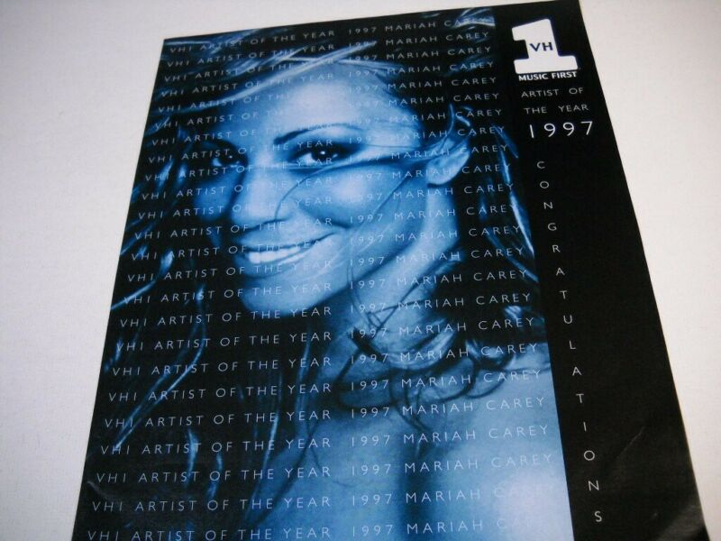 MARIAH CAREY is VH 1 Music First ARTIST OF YEAR original 1997 Promo Poster Ad