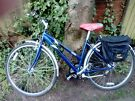 Raleigh ladies bike in excellent condition, 6 gears and panniers
