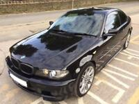 2004 (04) BMW 3 SERIES E46 330 CD M SPORT 2DR COUPE FSH 6 SPEED MANUAL BLACK TOP SPEC