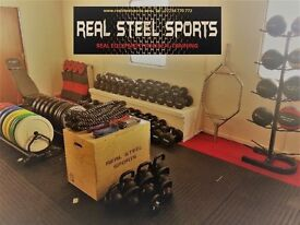 CROSSFIT - GYM EQUIPMENT - BUMPER PLATES - DUMBBELLS - WEIGHTS - BATTLE ROPES - TRAINING BALLS ETC