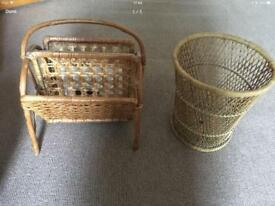 Magazine rack and waste paper basket