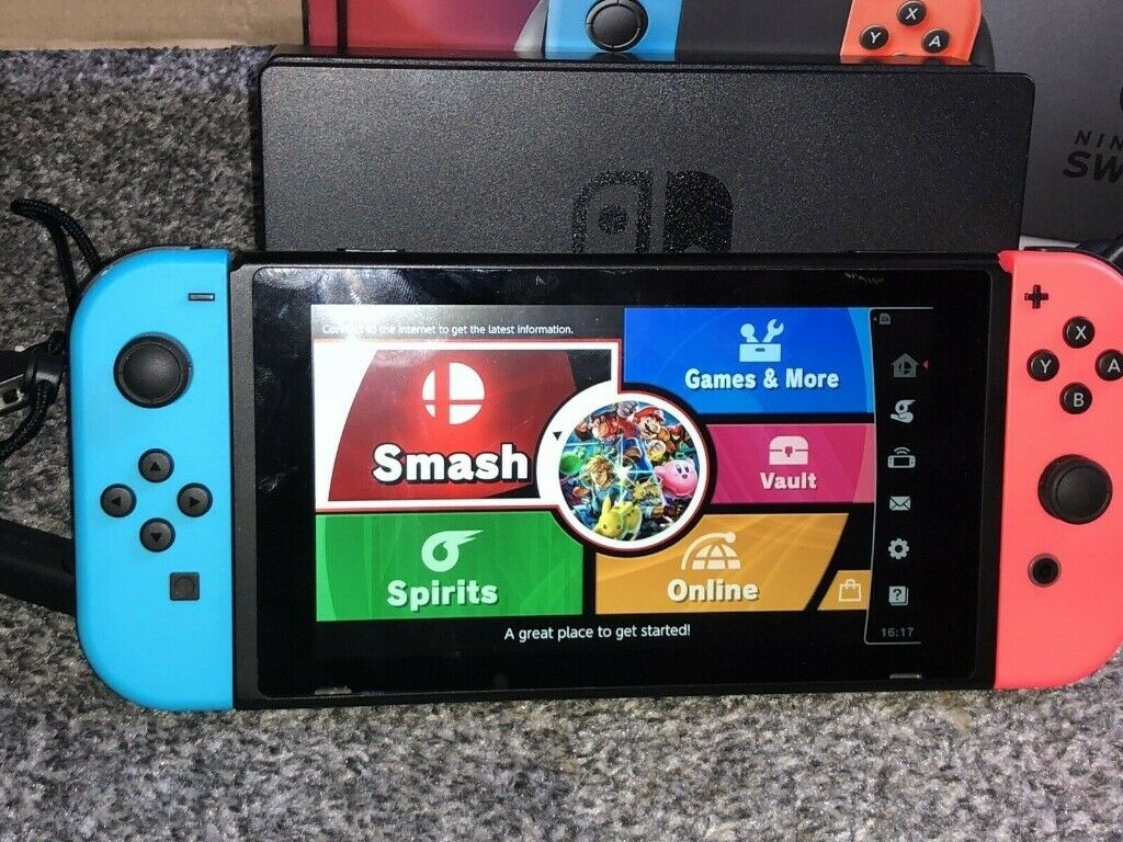 Neon Red/Blue Nintendo Switch Console boxed with game - modable serial  number | in Burnage, Manchester | Gumtree