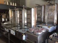 CATERING COMMERCIAL BRAND NEW 4 BURNER GAS DONER KEBAB SHAWARMA GRILL MACHINE CUISINE RESTAURANT BBQ