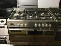 Stainless steel 90cm gas cooker (Dual fuel)