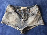 Top shop moto short jeans