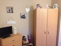3 piece bedroom set, Wardrobe, chest of draws & bedside cabinet