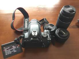 Canon 700d with 4 lenses
