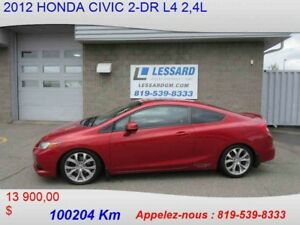 2012 HONDA CIVIC 2-DR Si GPS BLUETOOTH TRES PERFORMANT