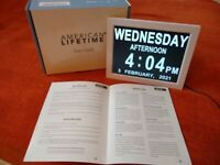 American Lifetime Day Clock - Extra Large Impaired Vision Digital Clock