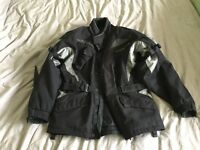 Motorbike Jacket - Spada. Armoured with detachable quilted lining. Large.