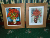6 FRAMED PRINTS with VARIOUS SCENES, PRICES and SIZES + OTHER PICTURES and KITCHEN ITEMS