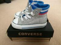 Boys converse high top trainers