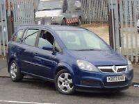 2007 Vauxhall Zafira 1.6 i 16v Club 5dr **7 SEATER**
