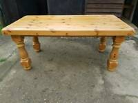 Rustic solid pine dining table