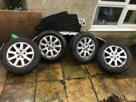 "GOLF VW AUDI SEAT SKODA5x112 15"" ALLOYS WITH 4 GOODYEAR TYRES"