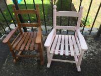2 x children's rocking chairs