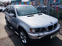 BMW X5 PETROL AUTOMATIC 3.0 SILVER 2001 PRIVATE PLATE LEATHER SEATS DRIVES NICE