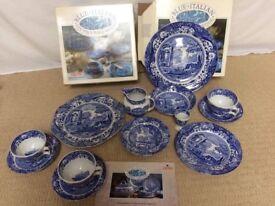 Spode Blue Italian dinnerware