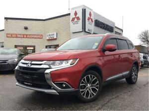 2016 Mitsubishi Outlander GT 0.9% (LEATHER, HEATED SEATS, SUNROO