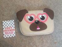 BNWT - Cozy Friends Dog Make Up Bag/Pencil Case cute