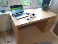IKEA JONAS Desk - light birch, good condition