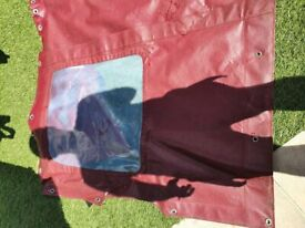 Boat canopy Maroon Colour (removed from a Sea Master 23ft boat)